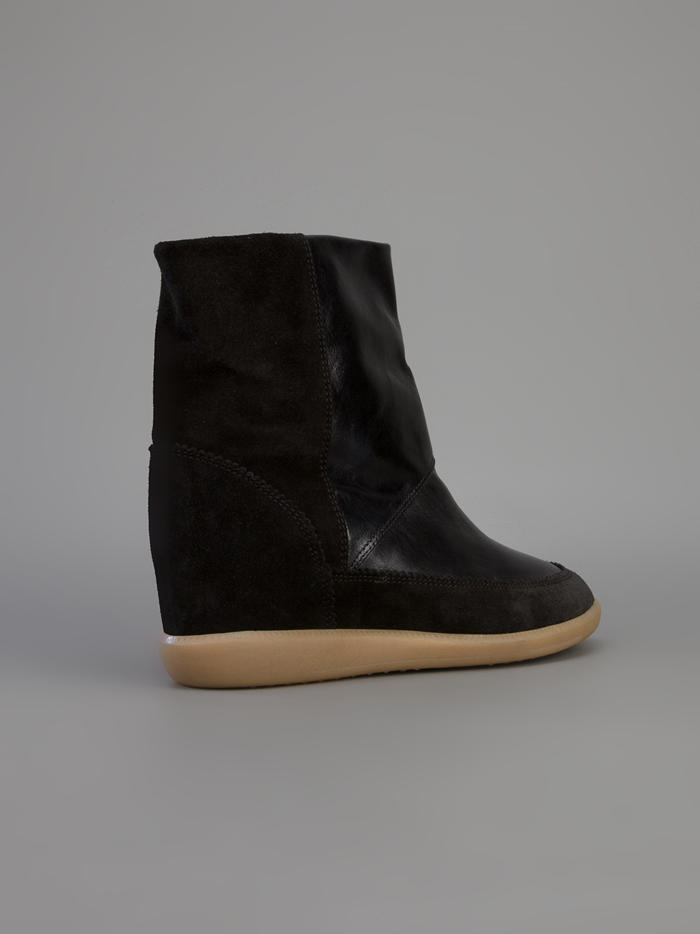 toile isabel marant nuty boot in black lyst. Black Bedroom Furniture Sets. Home Design Ideas
