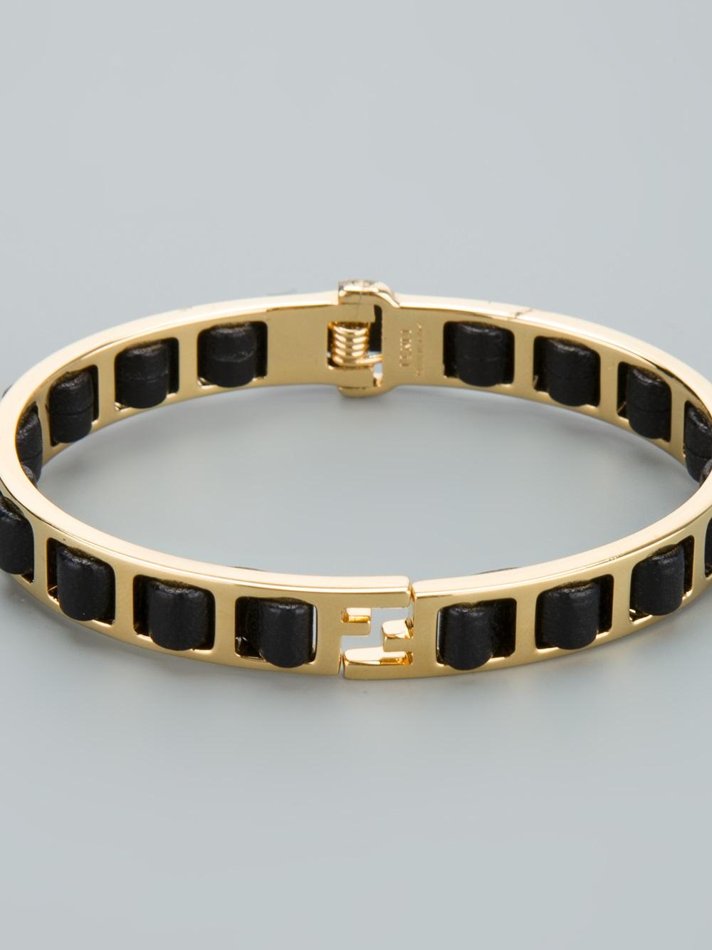 Bracelet En Cuir Logo - Fendi Métallique v7Mbs7YbZ