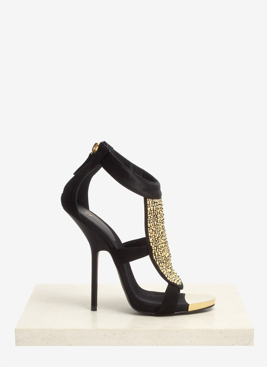 Buy Cheap New Black Alien sandals with rhinestones Giuseppe Zanotti Clearance Best Wholesale 75e4M2GgWt