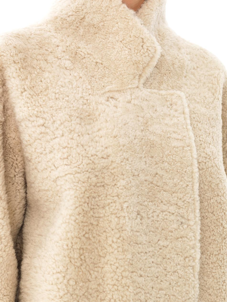 Inès & maréchal Reversible Curly Shearling Coat in Natural   Lyst