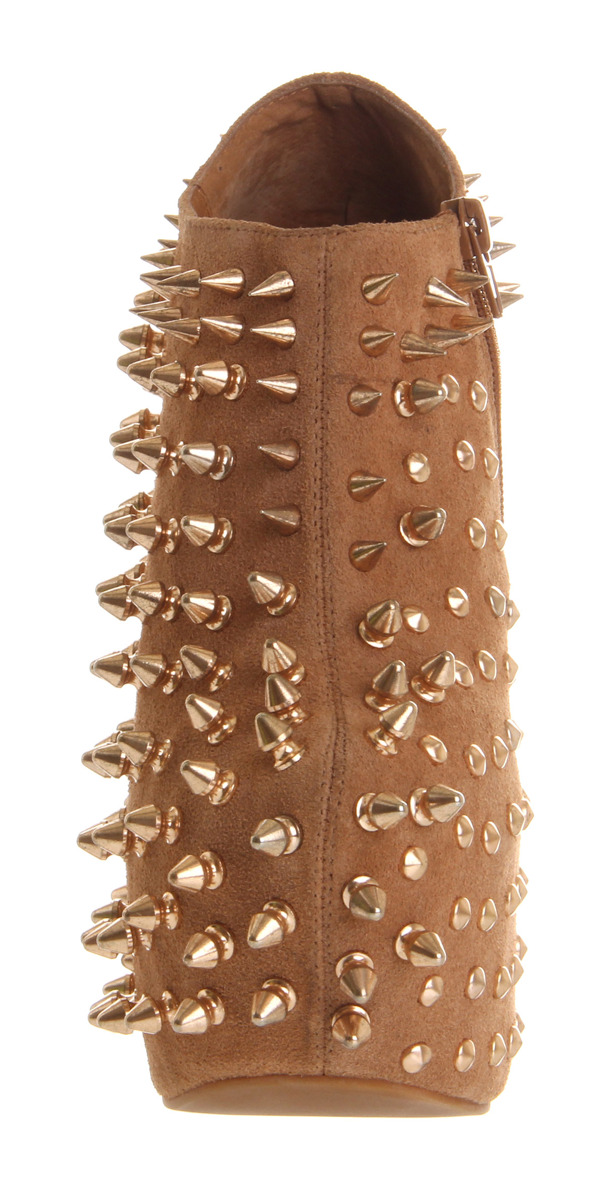 Jeffrey Campbell Shadow Spike Nude Leather Rose Gold Stud