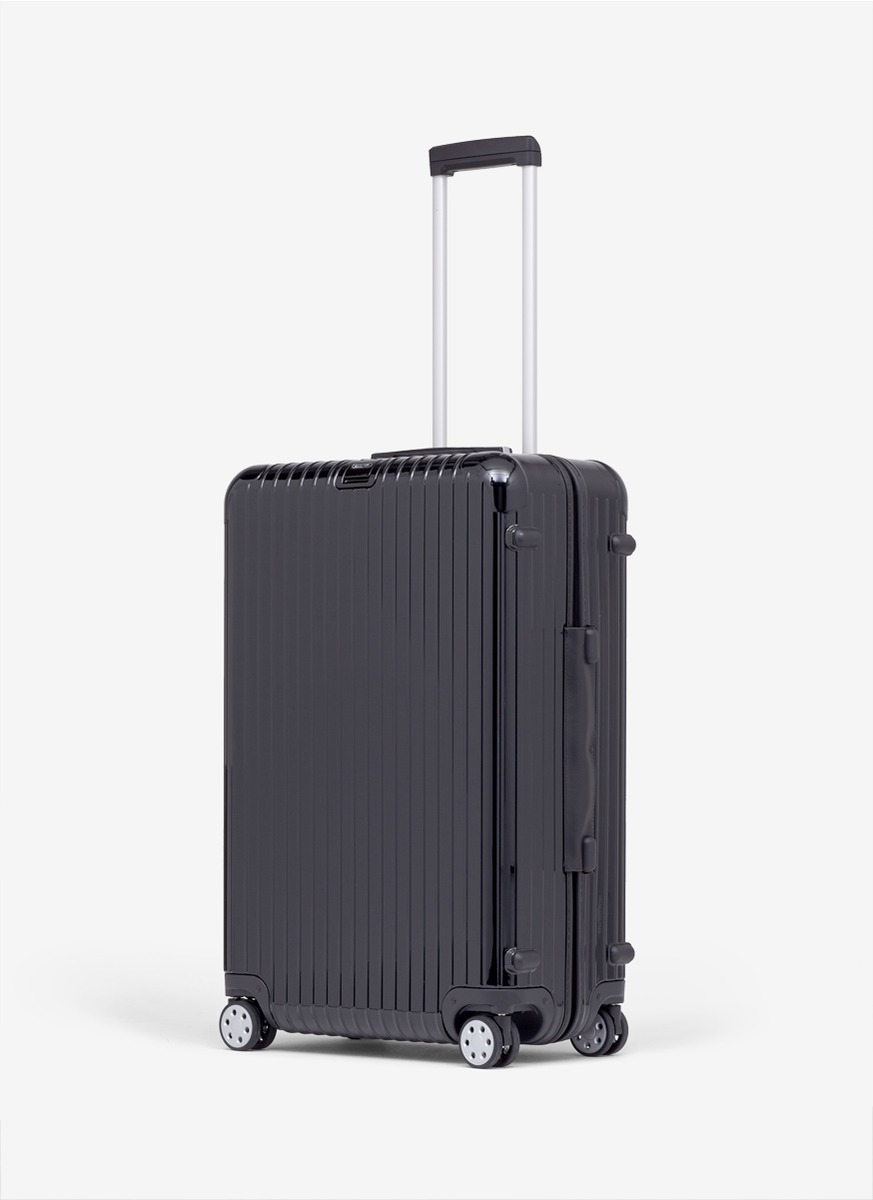 lyst rimowa salsa deluxe multiwheel black 98 litre in black. Black Bedroom Furniture Sets. Home Design Ideas