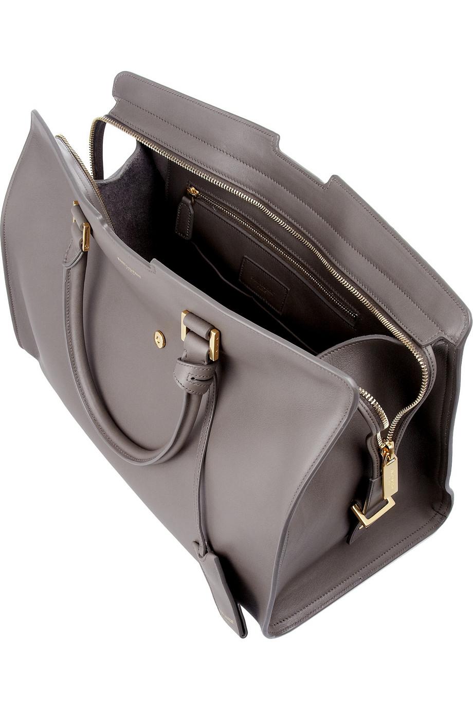 yves saint laurent belle de jour clutch bag large - y ligne soft leather bag, red