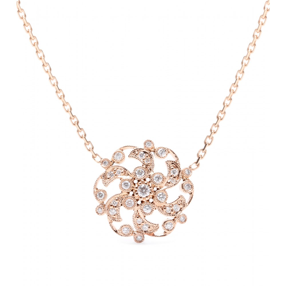 Stone 18kt Rose Gold Once Upon A Time Necklace With White ...