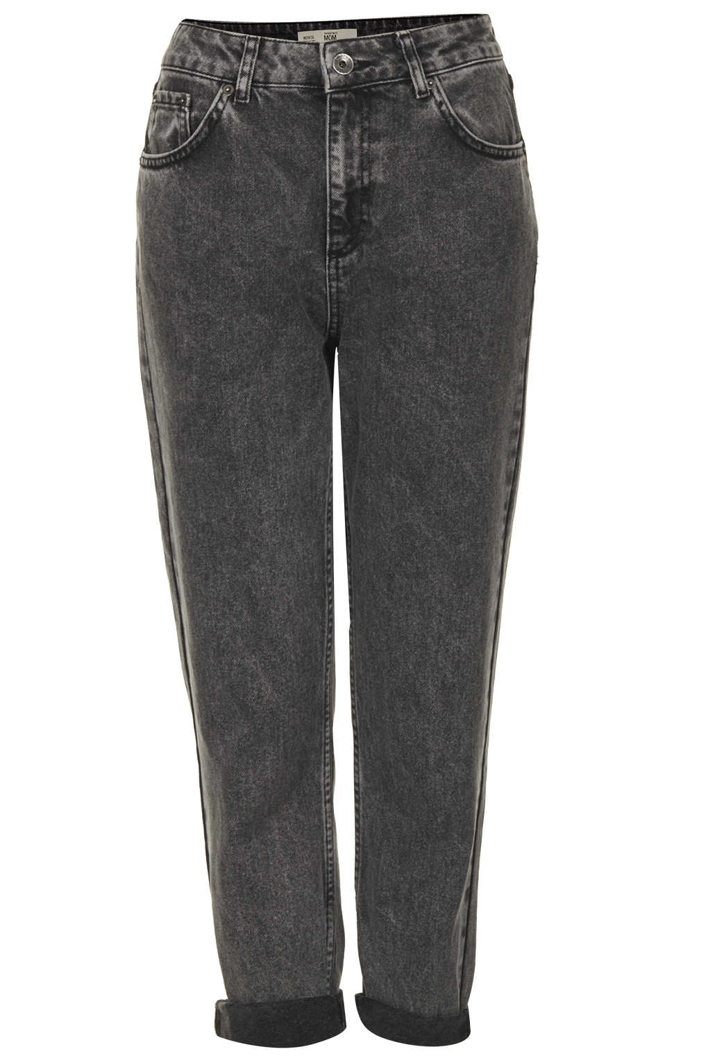 Topshop Moto Washed Black Jeans in Black | Lyst