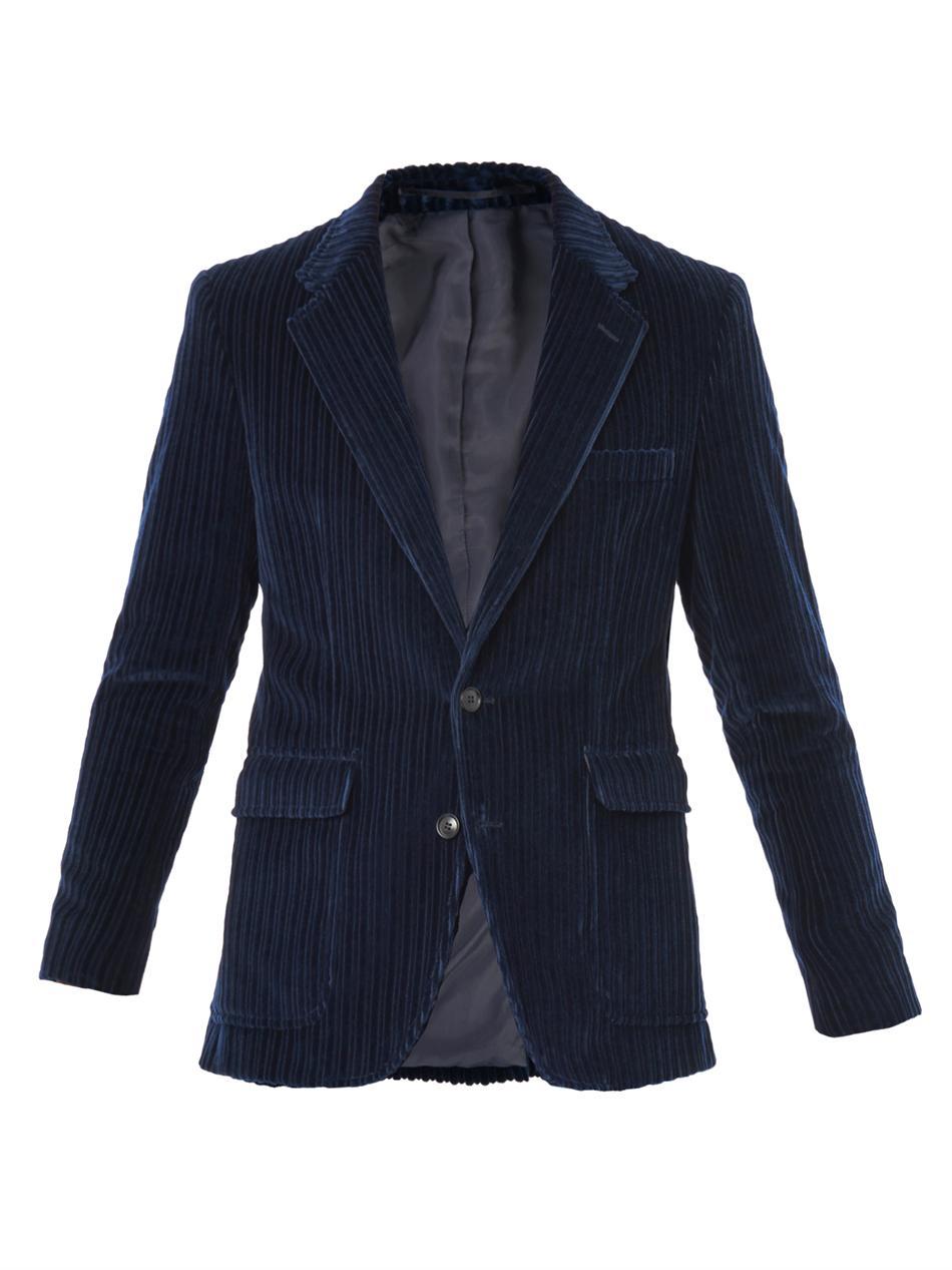 Lyst Trussardi Giant Corduroy Jacket In Black For Men