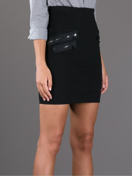 3 1 phillip lim fitted high waisted skirt in black lyst