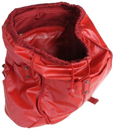 calvin klein jeans rucksack bumbag in red lyst. Black Bedroom Furniture Sets. Home Design Ideas