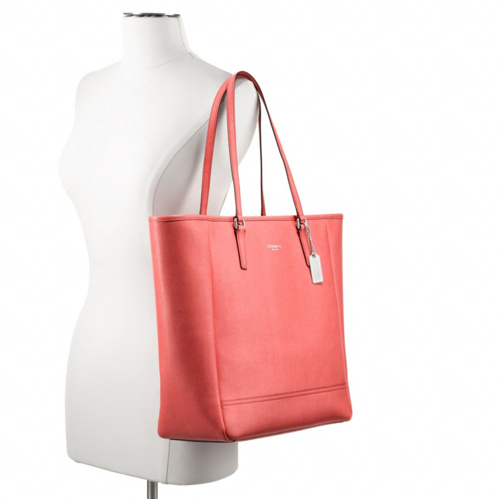 Coach Northsouth City Tote in Saffiano Leather in Pink Lyst ... 792f6d2062f20