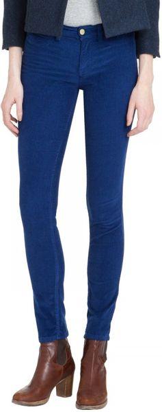 mih jeans the bonn jean in blue blueprint velvet cord lyst. Black Bedroom Furniture Sets. Home Design Ideas