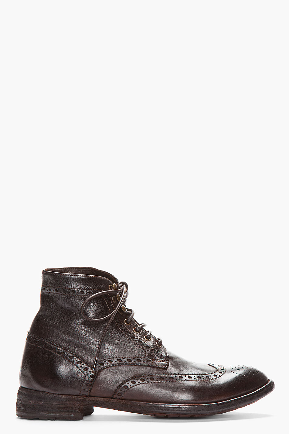Lyst Officine Creative Brown Leather Ignis Wingtip