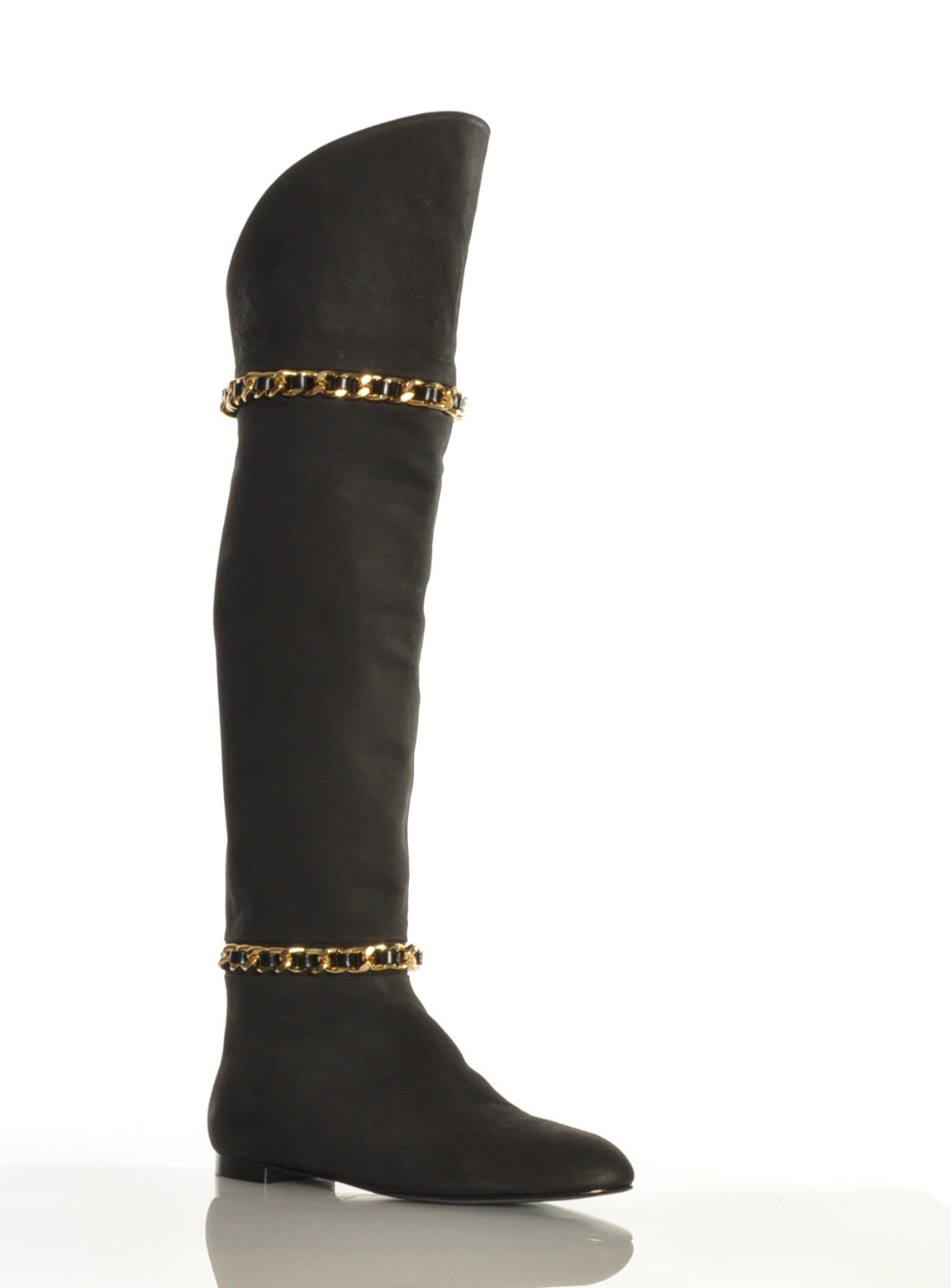 gittins the knee smoke suede boot by in