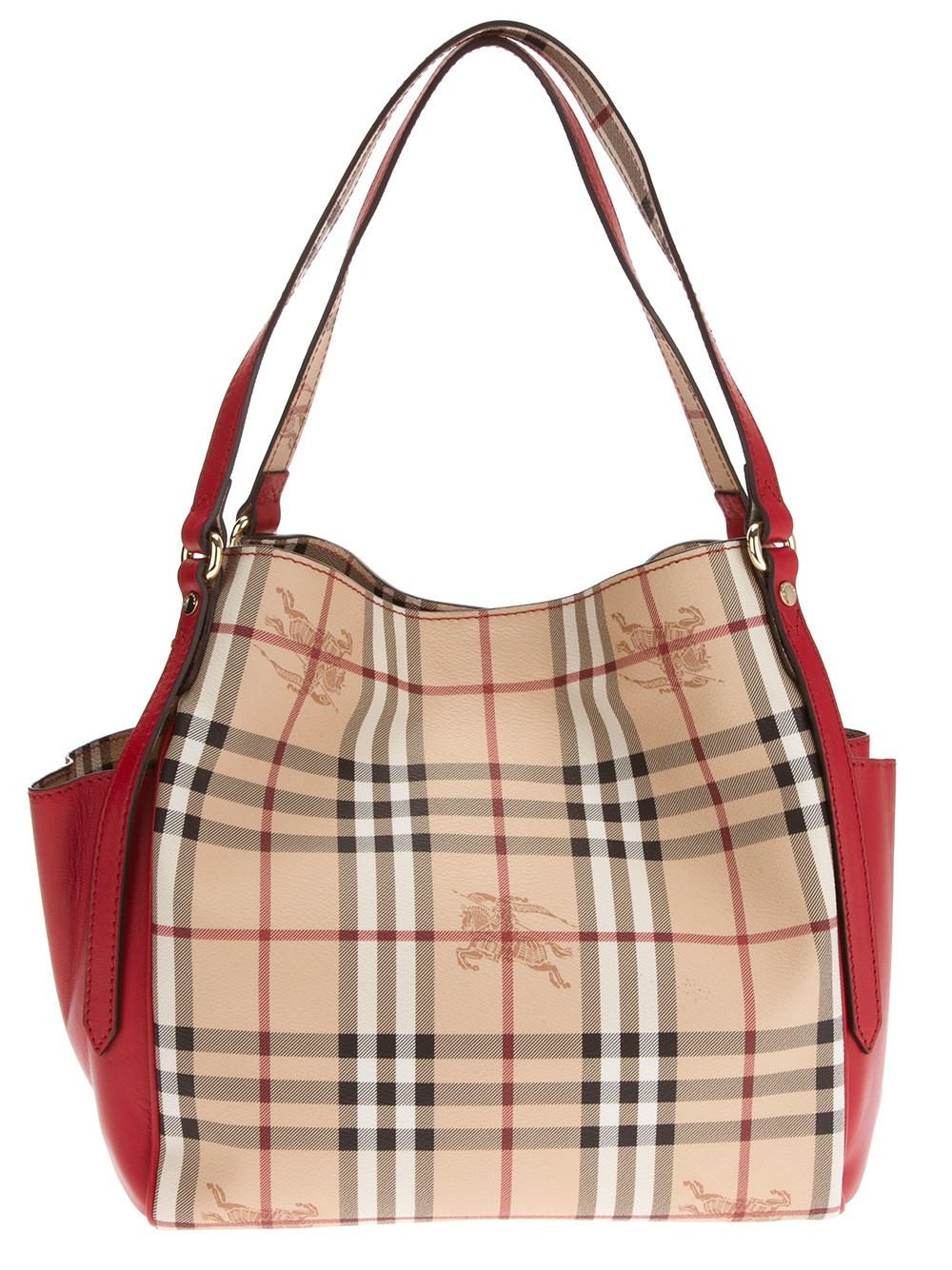 Lyst - Burberry Burberry London Small Canterbury Tote in Red 251b5271db72d