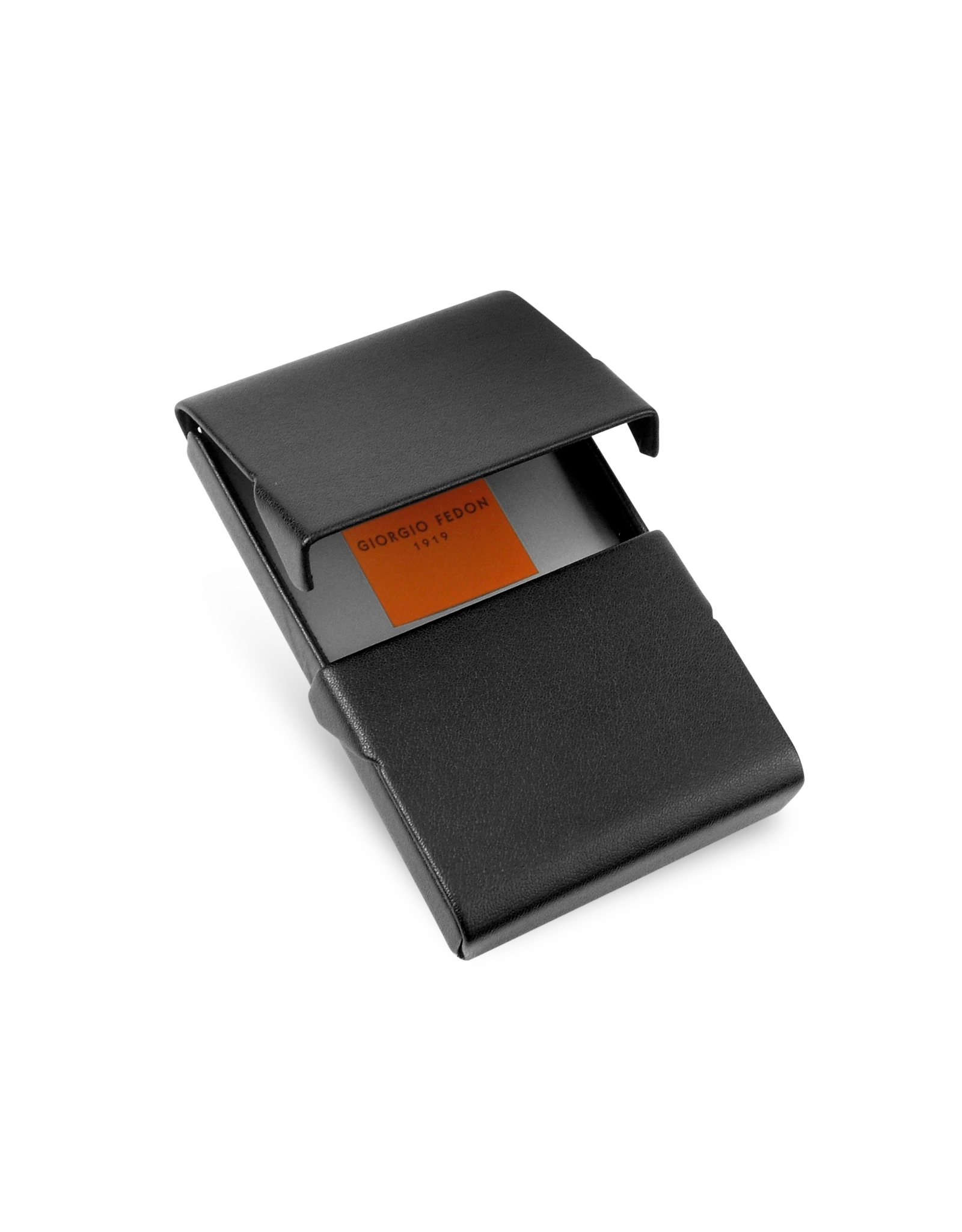 Giorgio fedon Black Business Card Holder in Black for Men | Lyst