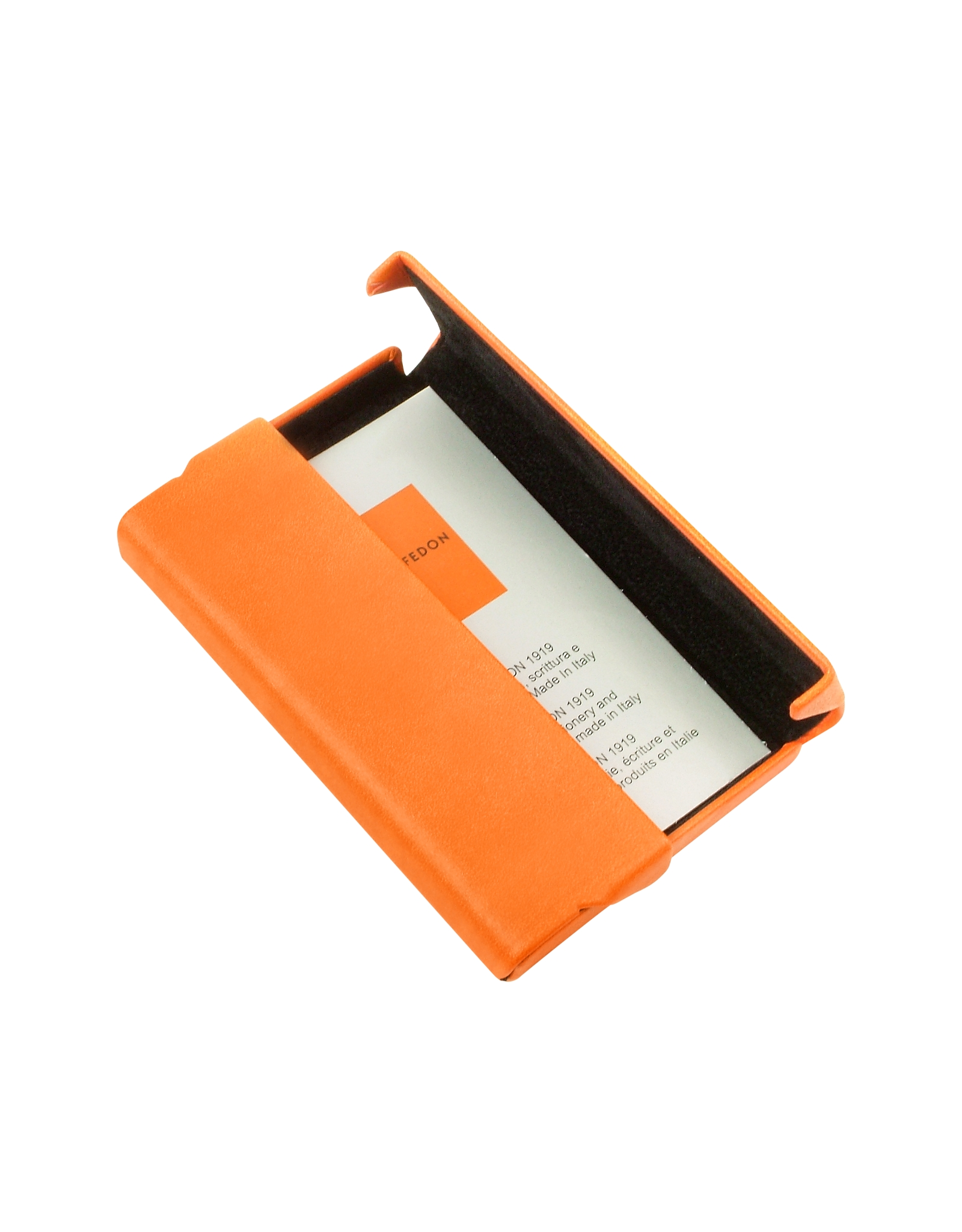 Giorgio fedon Orange Business Card Holder in Orange for Men | Lyst
