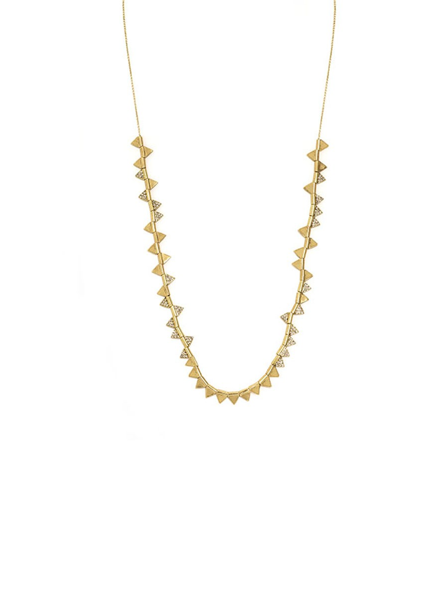 house of harlow 1960 frequency necklace in gold lyst