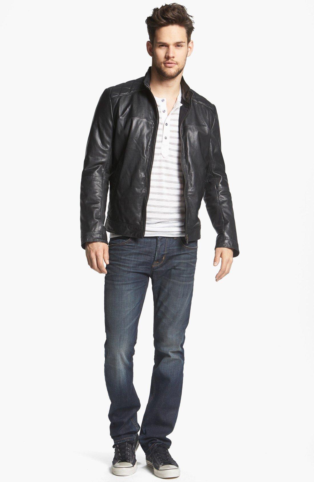 187 hugo boss orange jacket leather