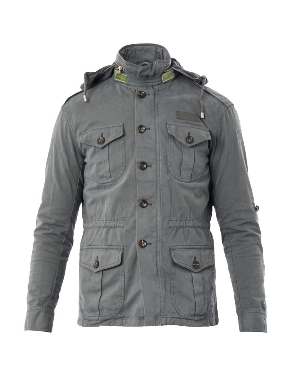Michael Bastian Four Pocket Military Jacket In Gray For