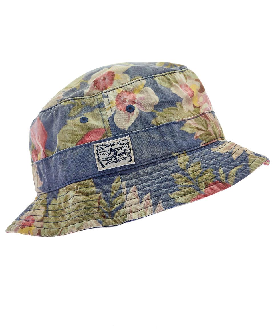 7693753fd2811 Polo Ralph Lauren Blue Hawaiian Print Bucket Hat in Blue for Men - Lyst