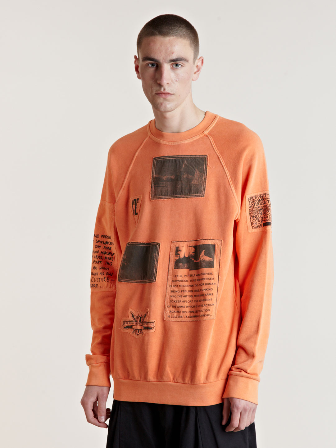 Raf Simons Aw04 Orange Patch Sweat In Orange For Men Lyst