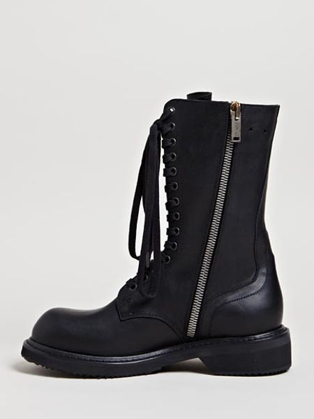 Rick Owens Womens Army Boots In Black Lyst