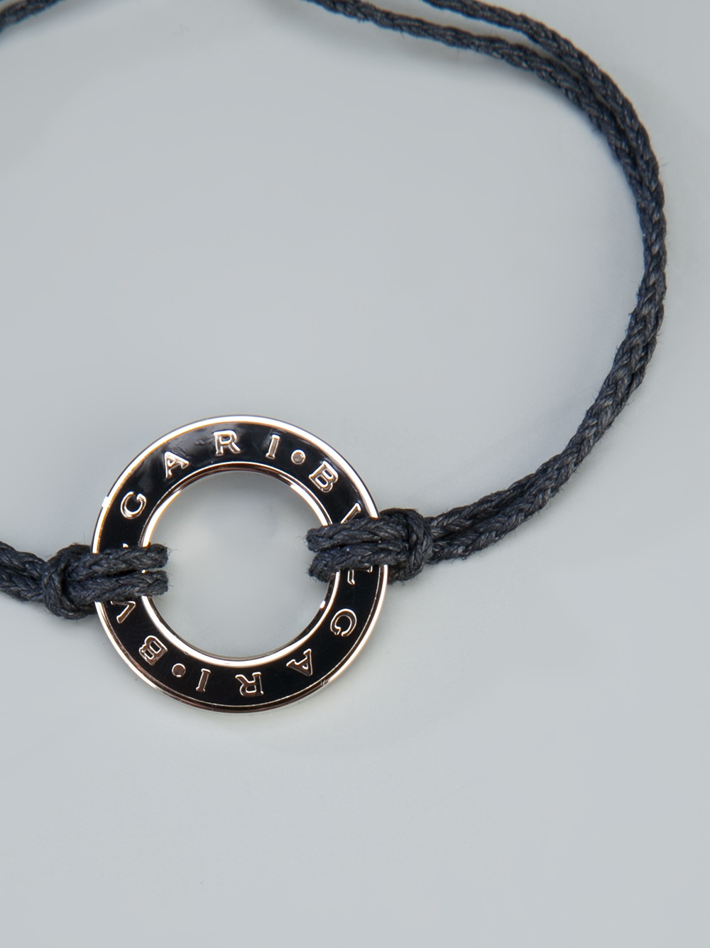 Bvlgari Charm Bracelet In Black For Men Lyst