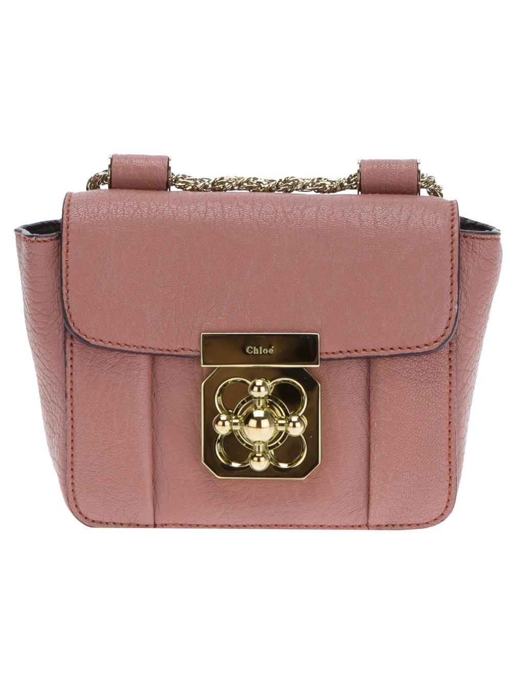 f861f685782 Lyst - Chloé Mini Elsie Shoulder Bag in Pink