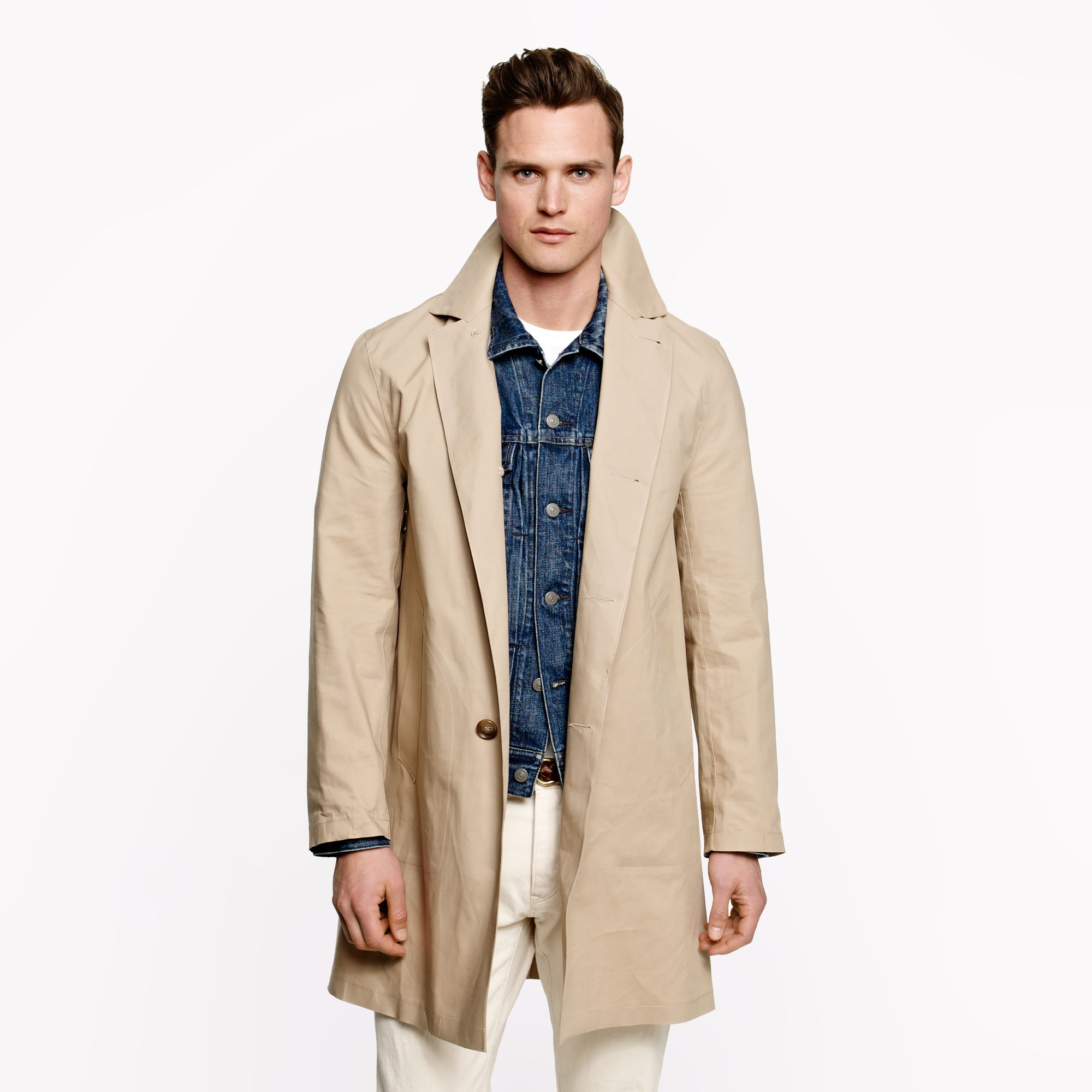 J Crew Mackintosh Duncan Coat In Birch In Natural For Men