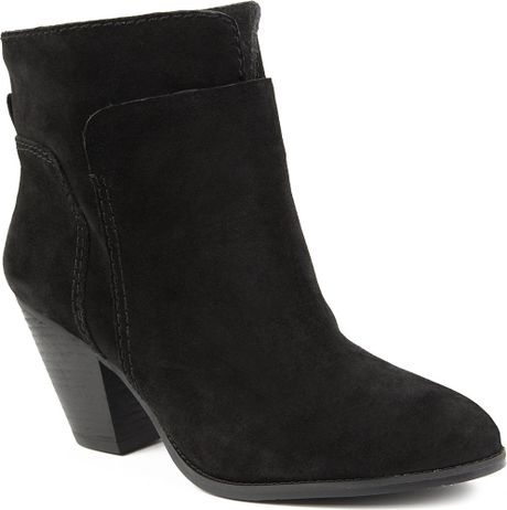 nine west hollyday suede ankle boots in black lyst