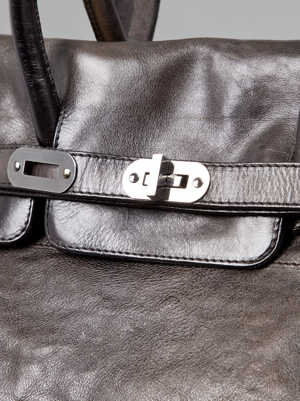 Numero 10 Leather Chelsea Distressed Tote in Dark Brown (Brown)