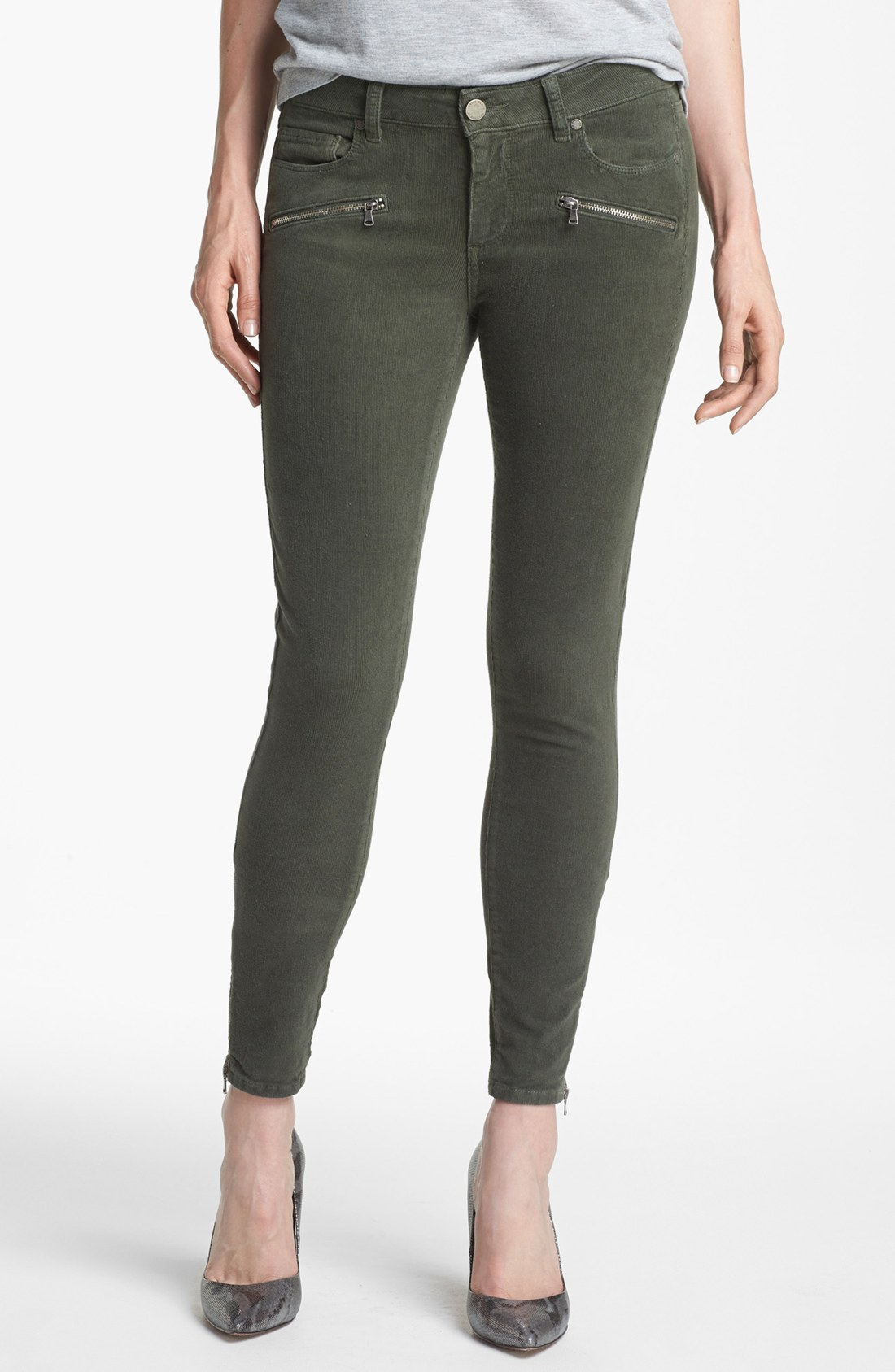 Creative 6545P_2 Lucky Brand Sofia Skinny Corduroy Pants For Women