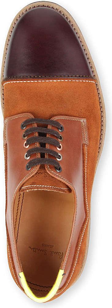 Paul Smith Skull Derby Shoes in Brown for Men