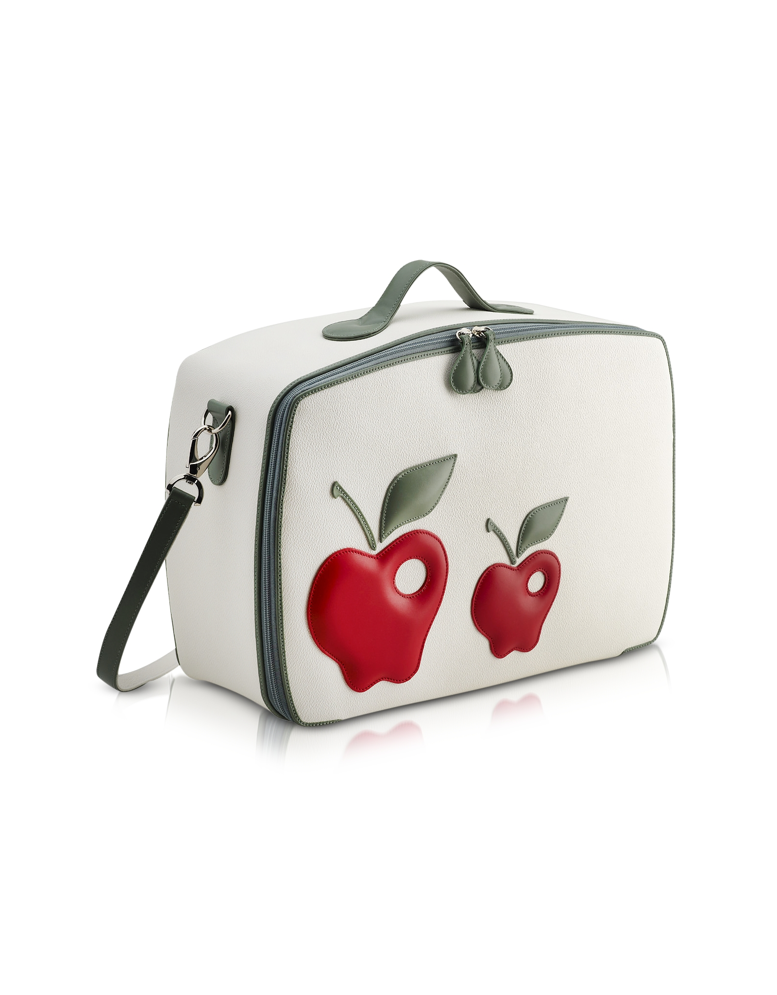 Pineider Red Apple Mini Travel Bag in Red
