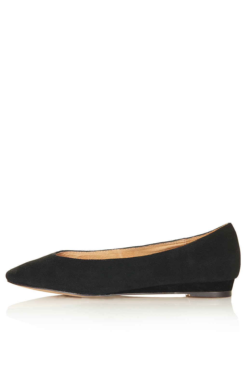 topshop mello mini wedge court shoes in black lyst