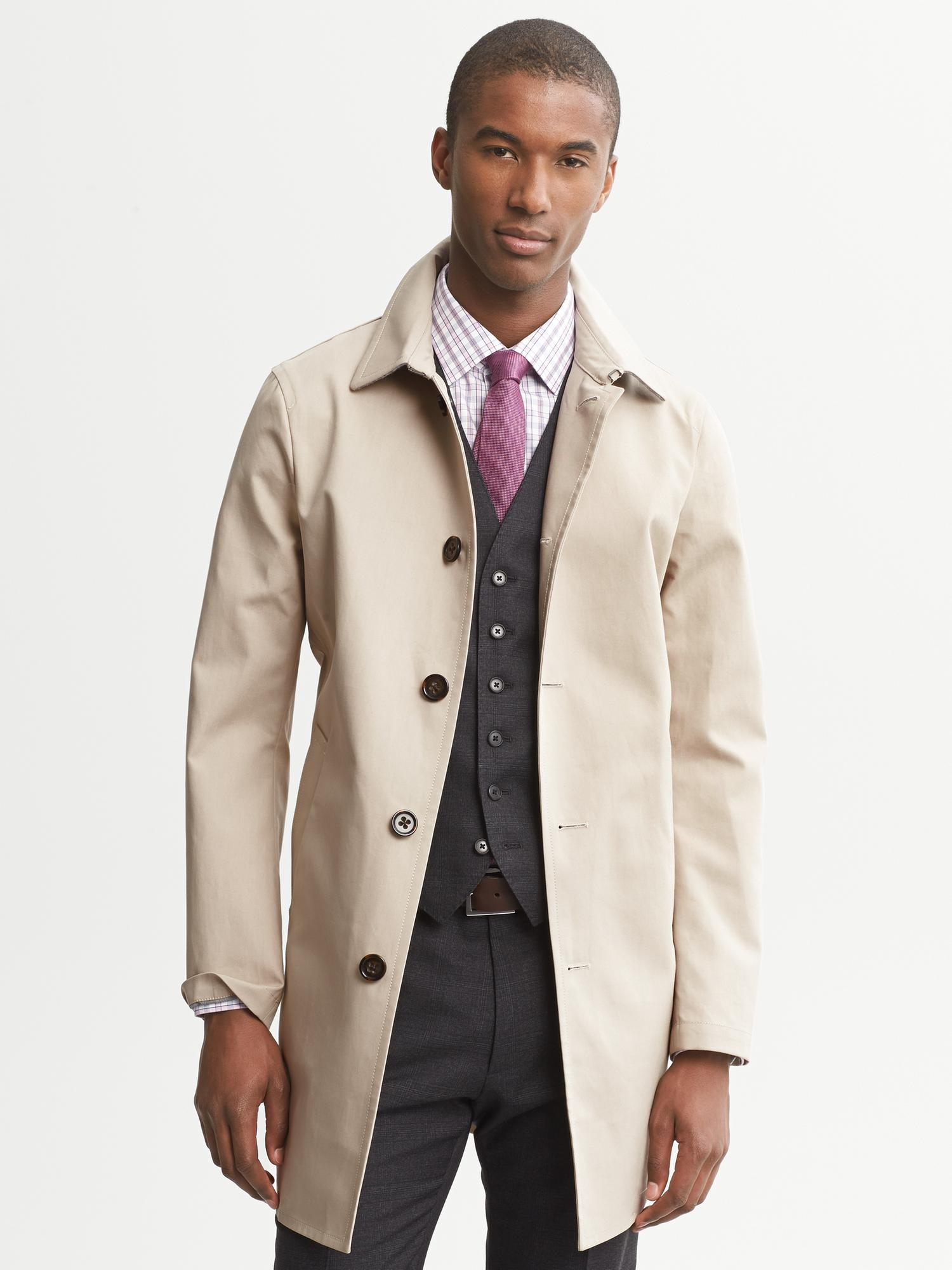 Lyst Banana Republic Stone Mac Jacket In Natural For Men