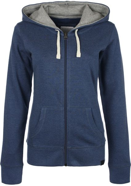 Bench Womens The Hoodie Sweat Jacket In Blue For Men