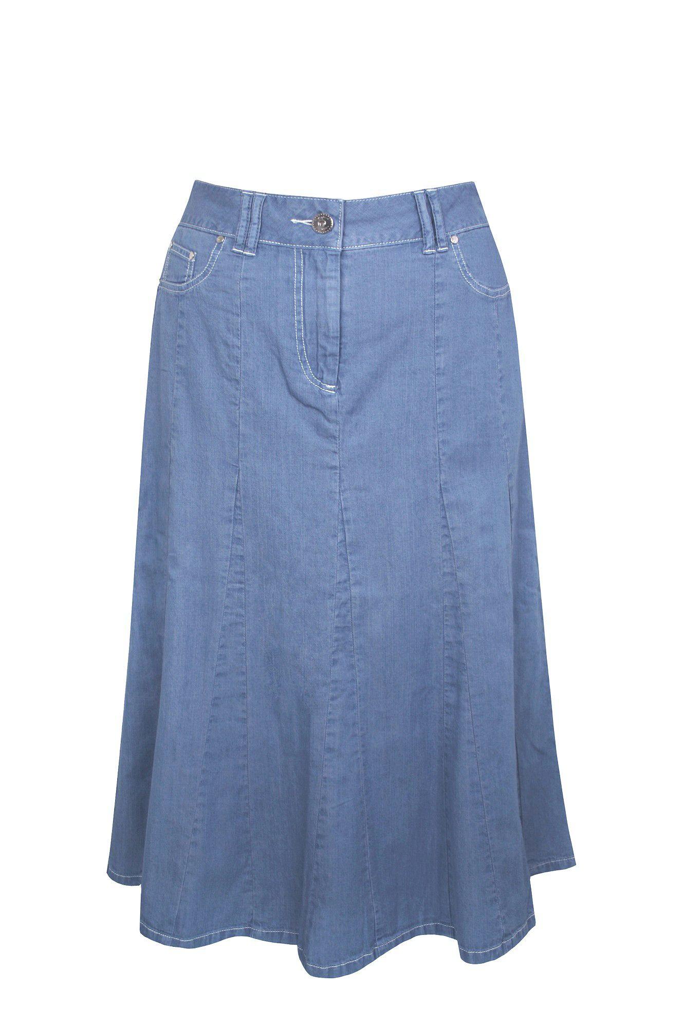 Dash Lightweight Denim Skirt in Blue | Lyst