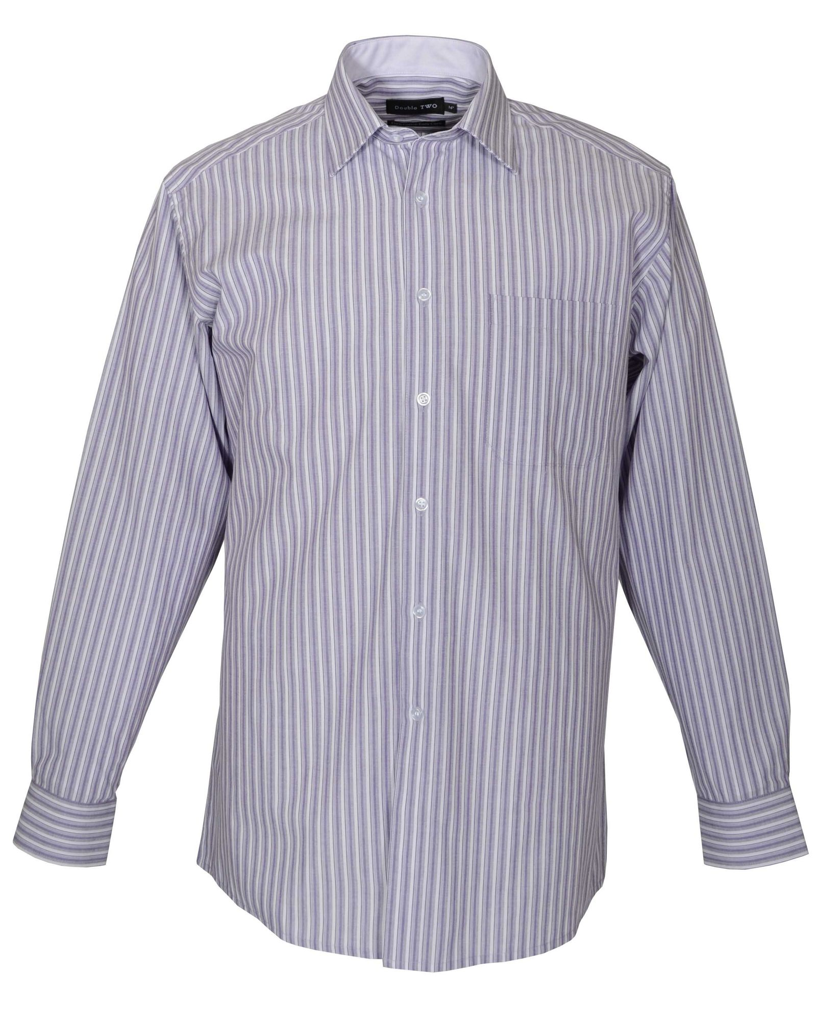 lyst double two long sleeve cotton stripe formal shirt