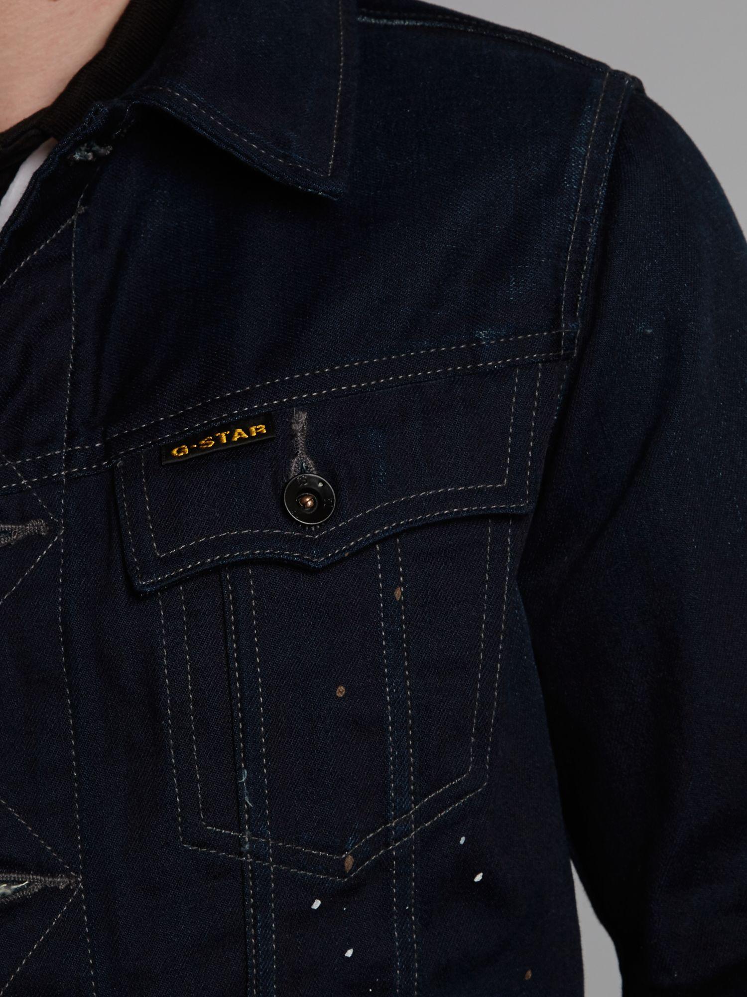 star raw denim raw slim tailor denim jacket product 4 12028533. Black Bedroom Furniture Sets. Home Design Ideas