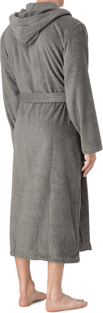 Ralph Lauren Kimono Hooded Robe in Gray for Men - Lyst