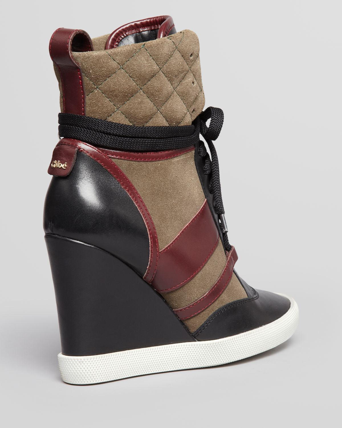 Kasia Top Chloé Up High Black Lace Wedge Sneakers qzMSUVp