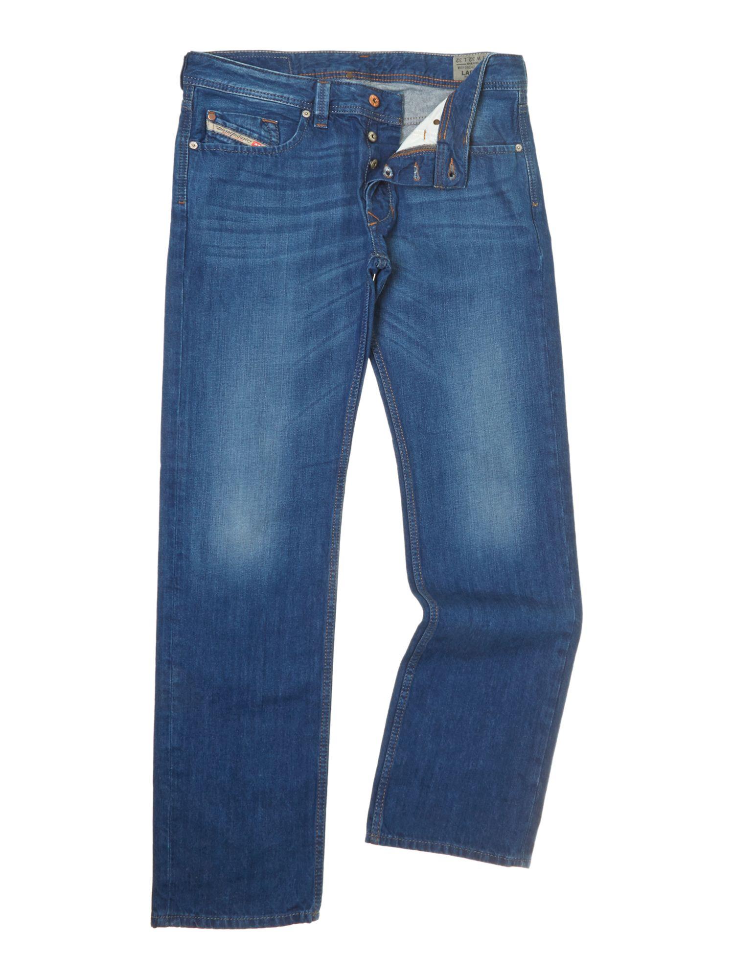 diesel larkee 814z straight fit jeans in blue for men. Black Bedroom Furniture Sets. Home Design Ideas