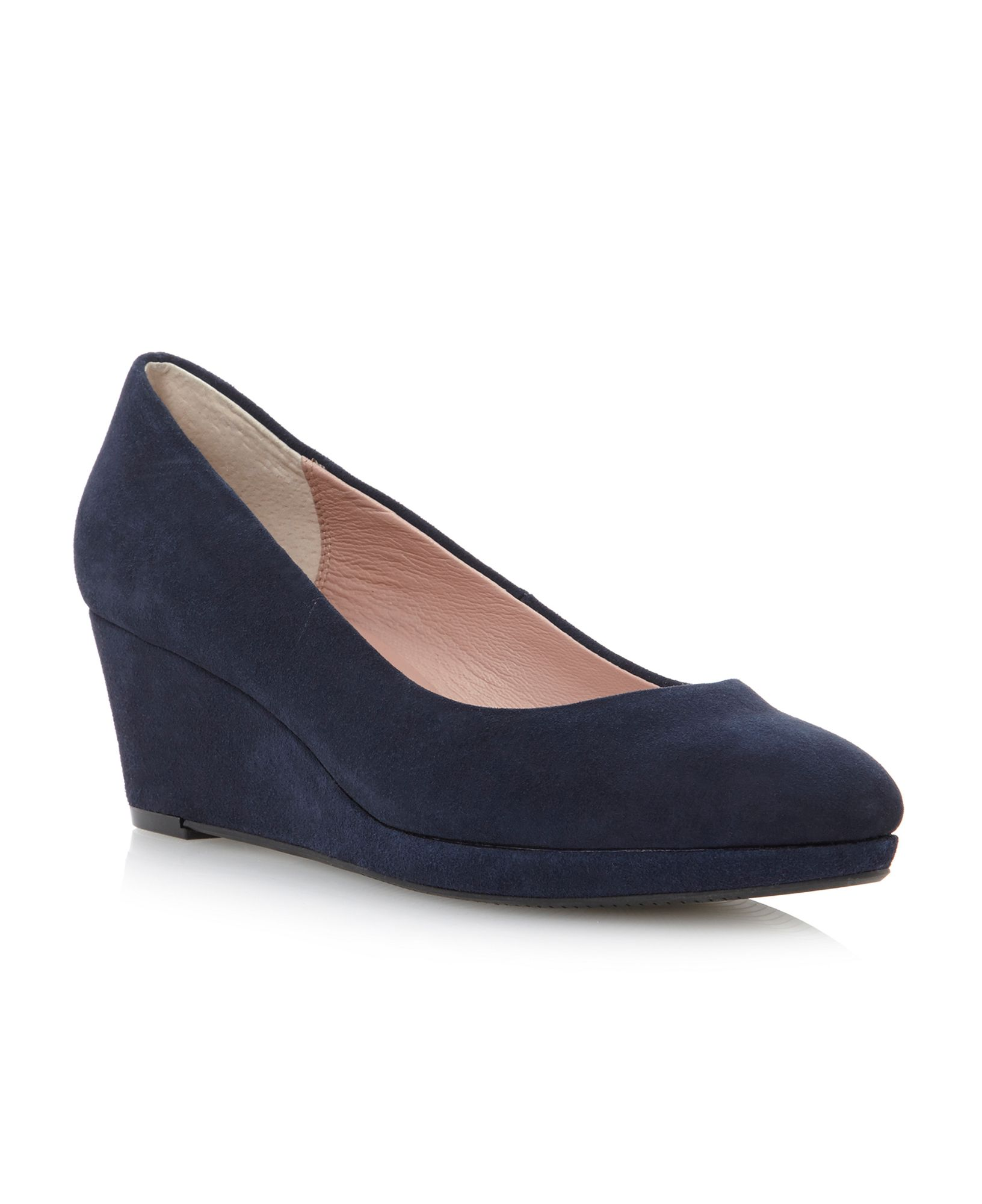Navy Wedge Heels Fs Heel