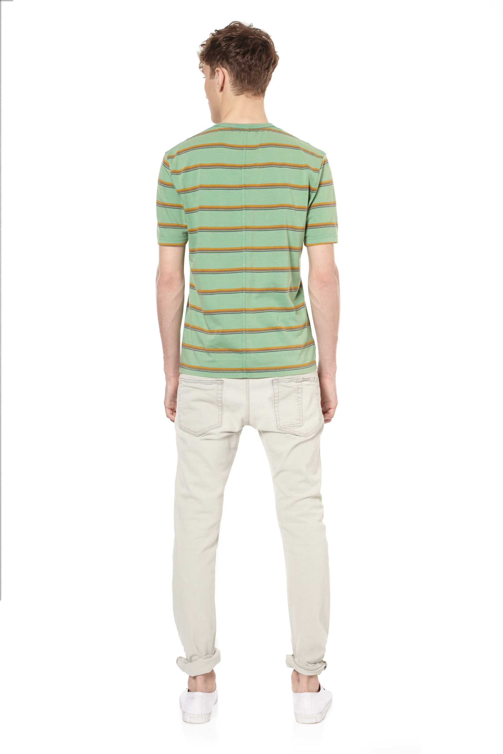 Lyst French Connection Scalter Striped Tshirt In Green