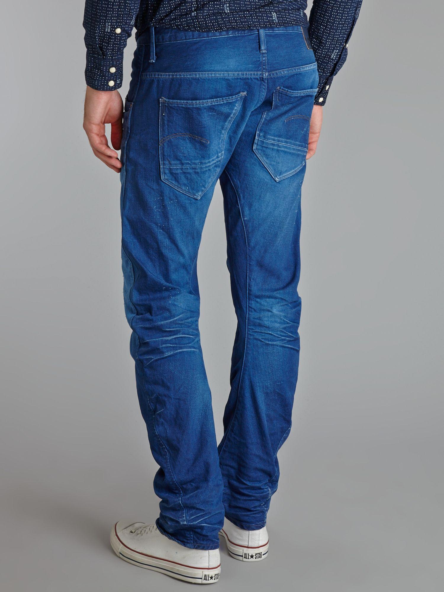lyst g star raw arc leg slim fit jeans in blue for men. Black Bedroom Furniture Sets. Home Design Ideas