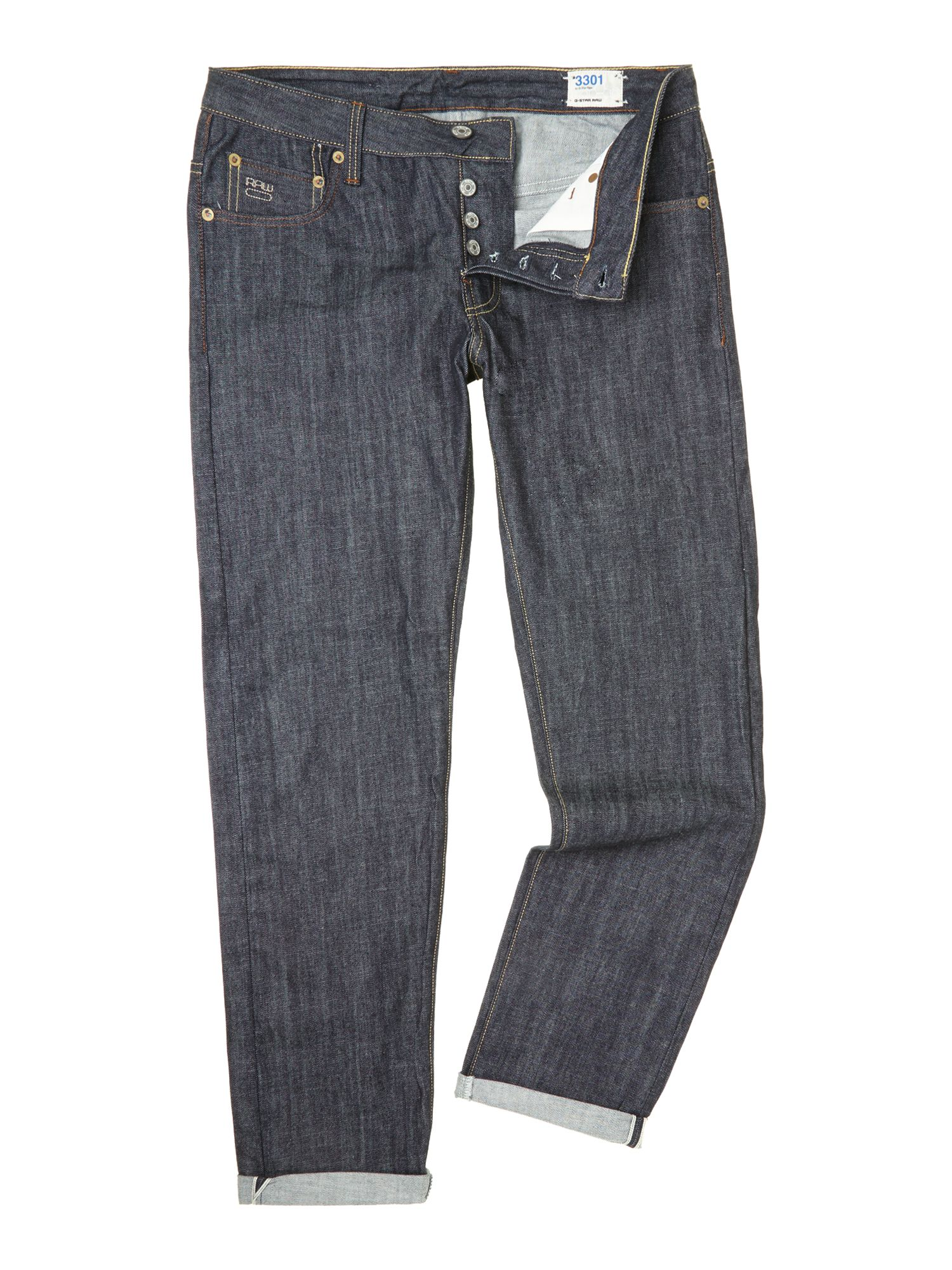 lyst g star raw 3301 low tapered jeans in blue for men. Black Bedroom Furniture Sets. Home Design Ideas