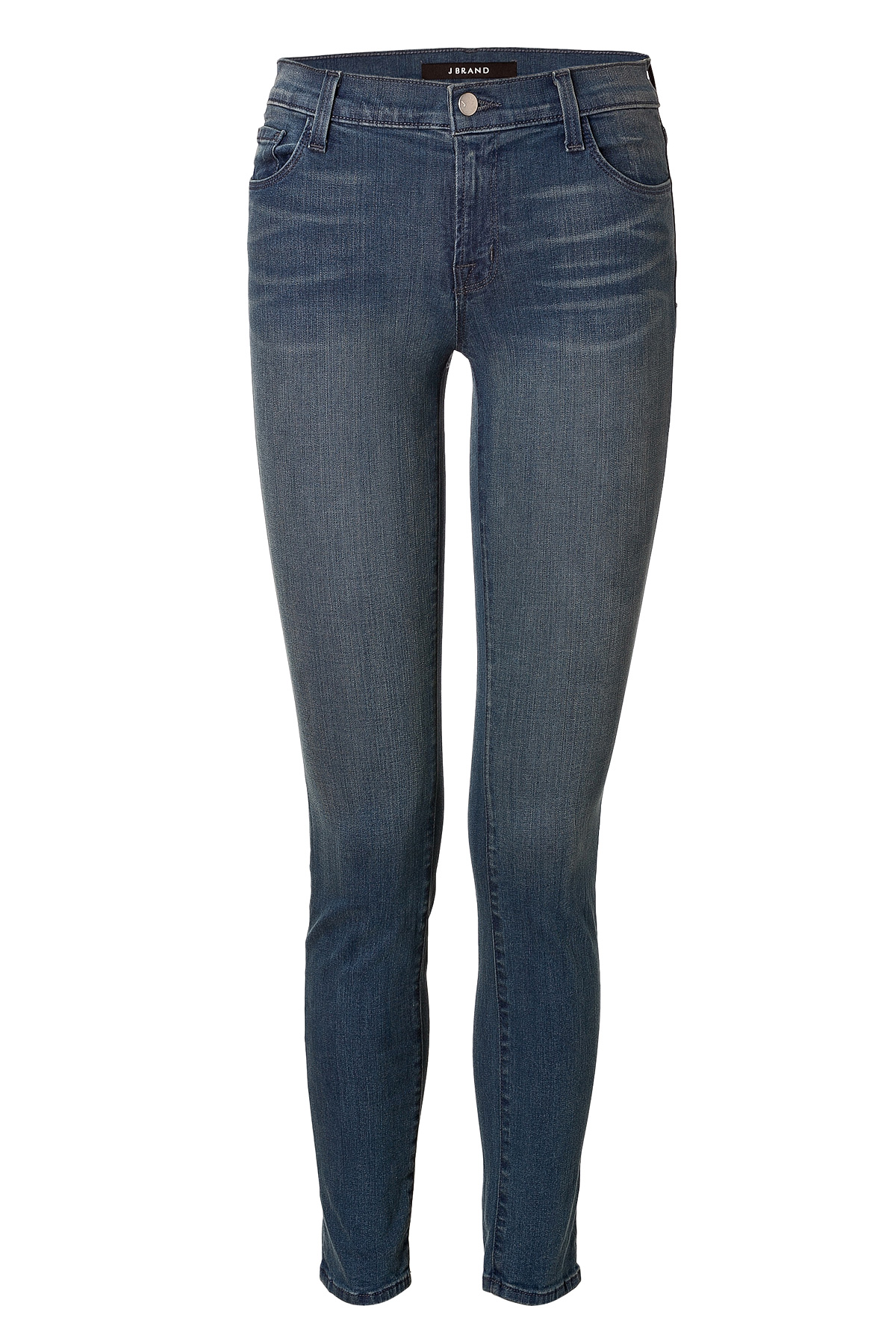j brand mid rise skinny jeans in utopia in blue lyst. Black Bedroom Furniture Sets. Home Design Ideas