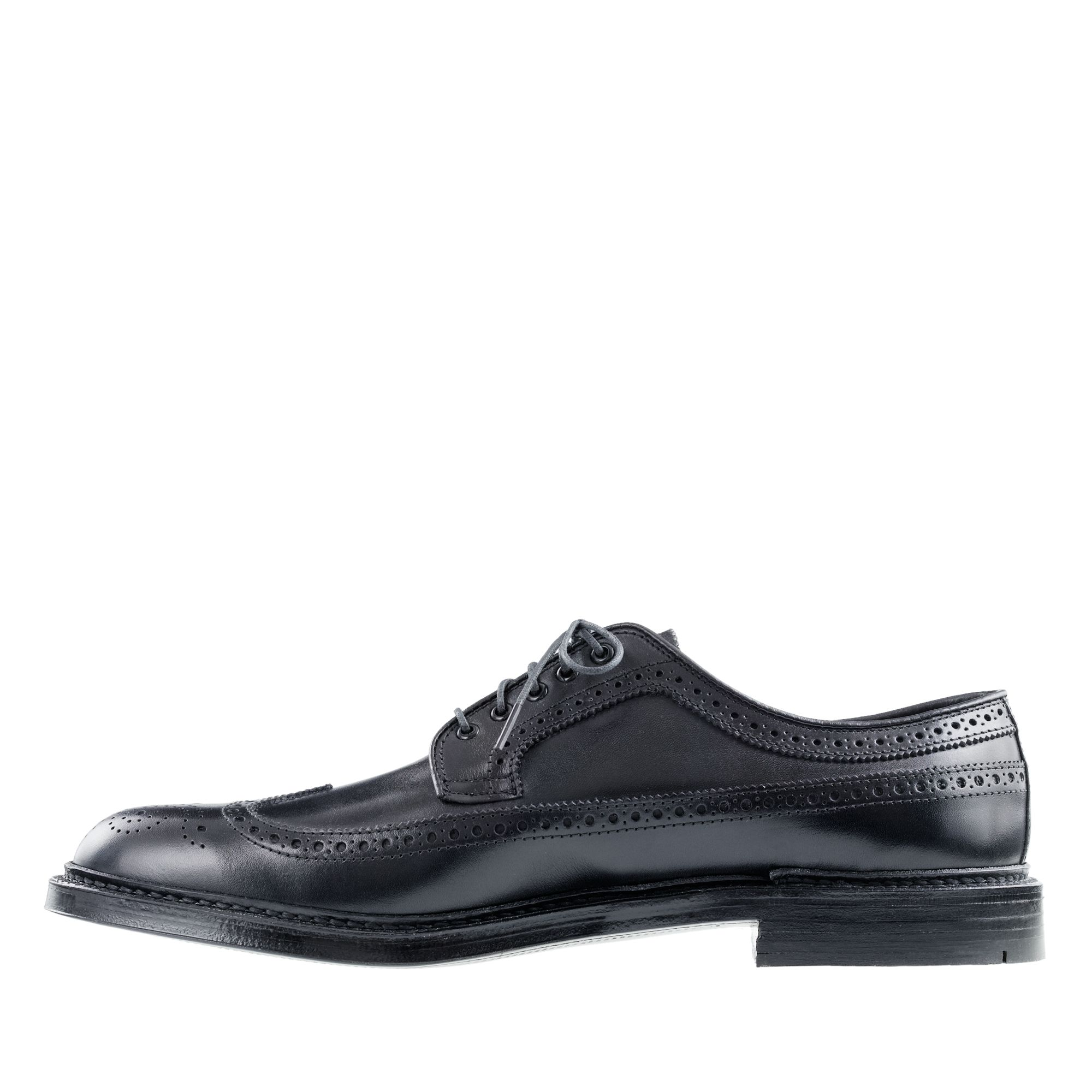 J.Crew Leather Alden Longwing Bluchers in Black (Brown) for Men