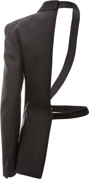 Jean Paul Gaultier Half Blazer Jacket Black In Black For