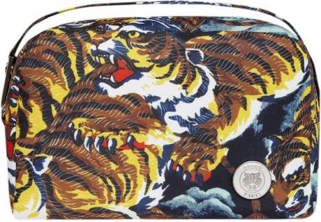kenzo flying tiger print wash bag in multicolor tiger lyst. Black Bedroom Furniture Sets. Home Design Ideas